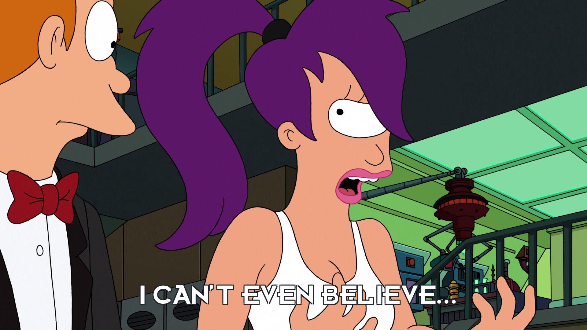 Turanga Leela: I can't even believe...