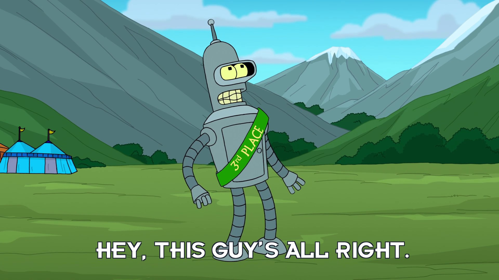 Bender Bending Rodriguez: Hey, this guy's all right.