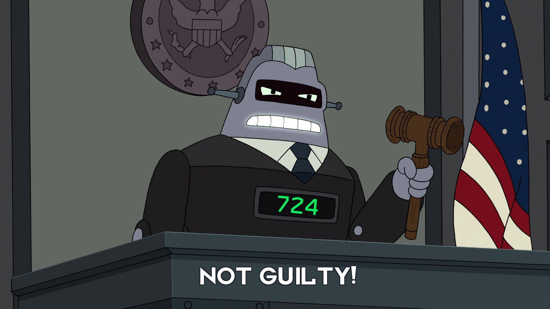 Judge 724: Not guilty!