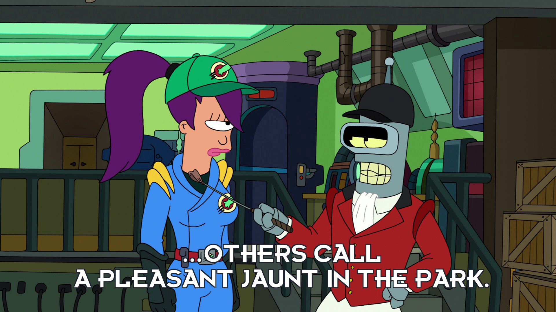 Bender Bending Rodriguez: ...others call a pleasant jaunt in the park.