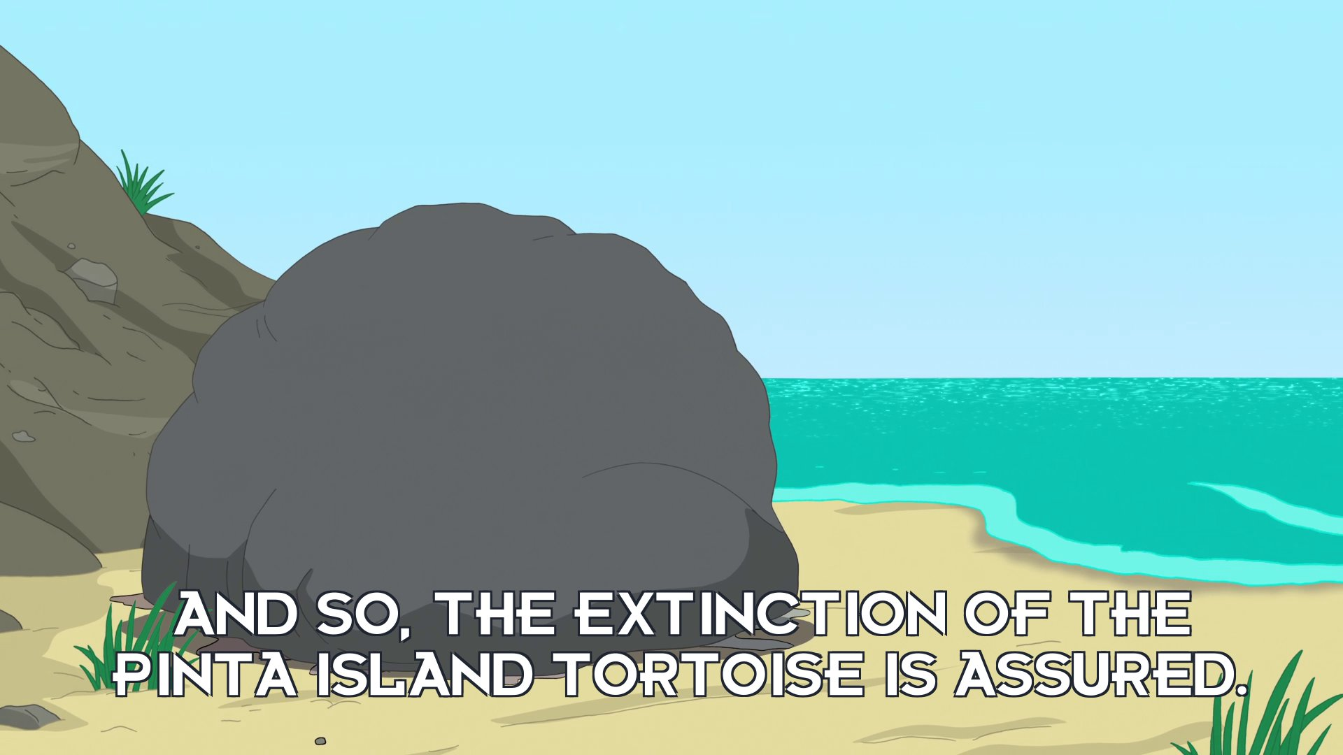 Narrator: And so, the extinction of the Pinta Island tortoise is assured.