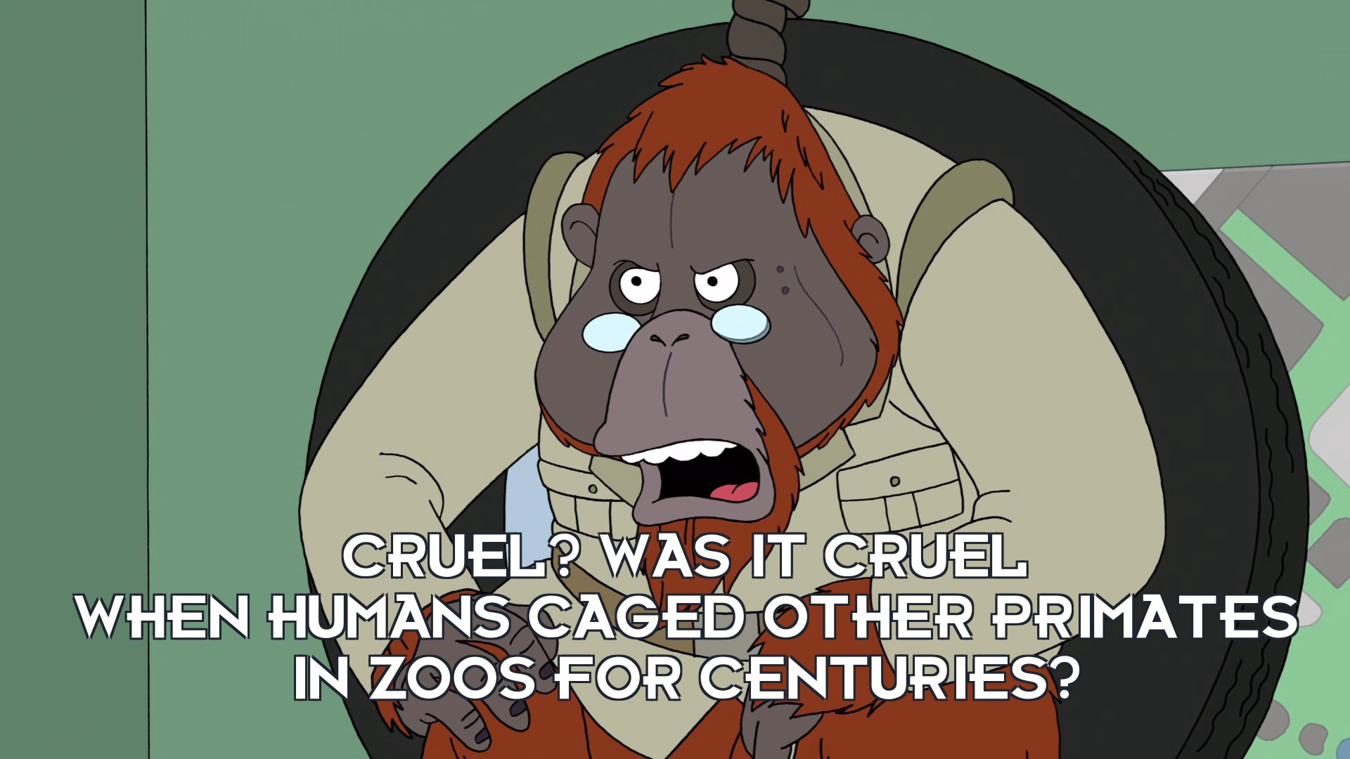 Dr Banjo: Cruel? Was it cruel when humans caged other primates in zoos for centuries?