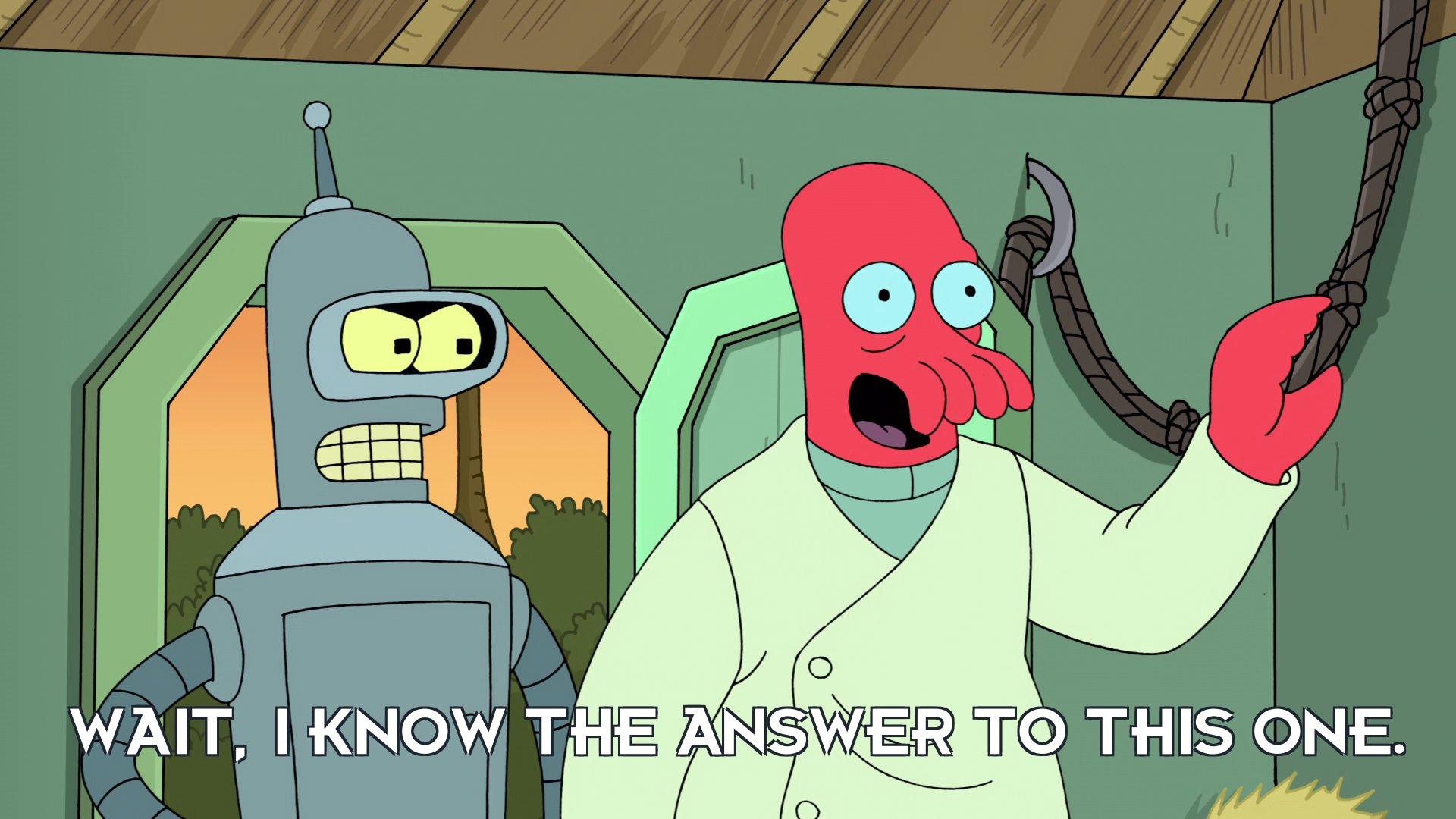Dr John A Zoidberg: Wait, I know the answer to this one.