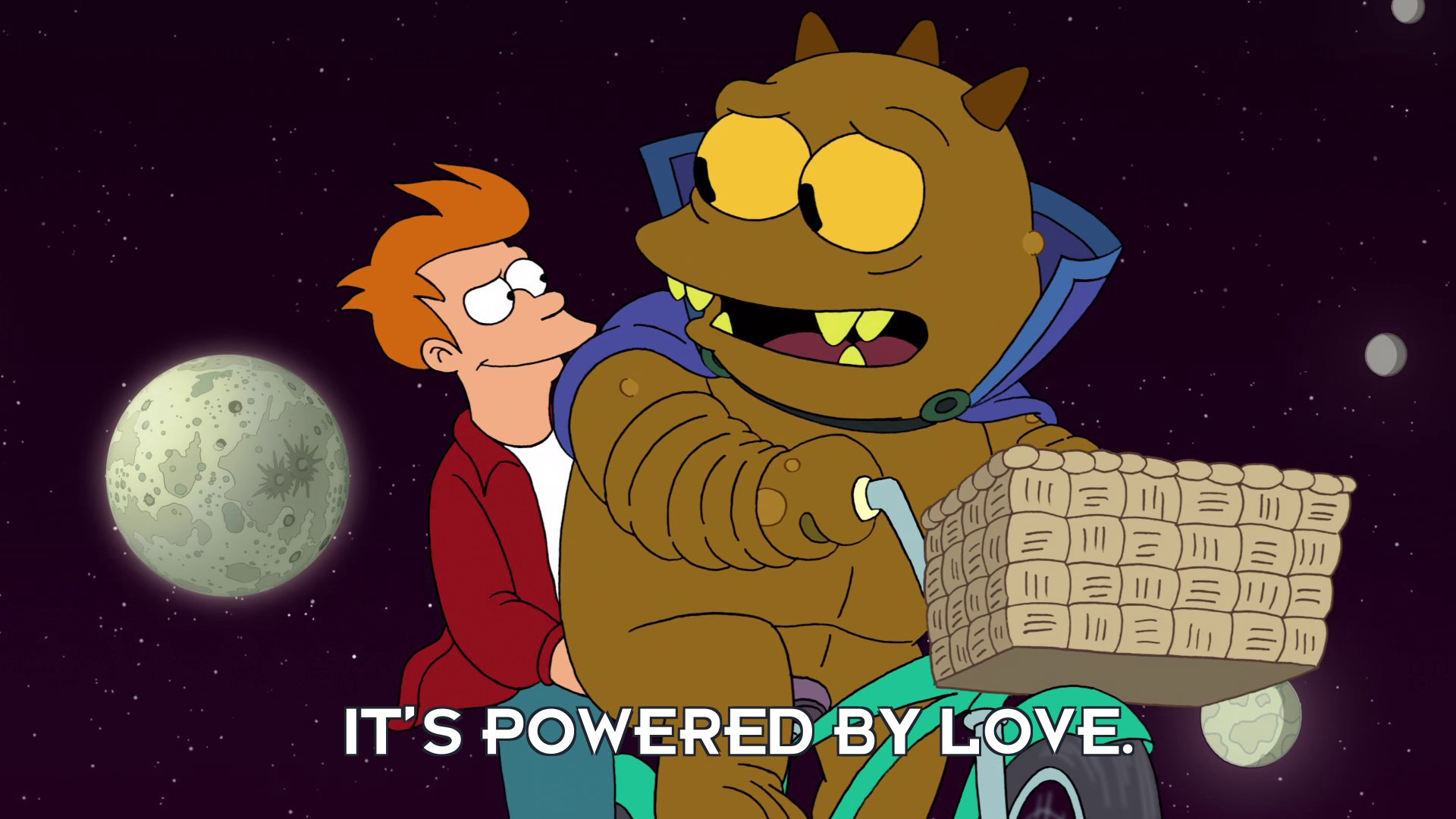 Jrrr: It's powered by love.