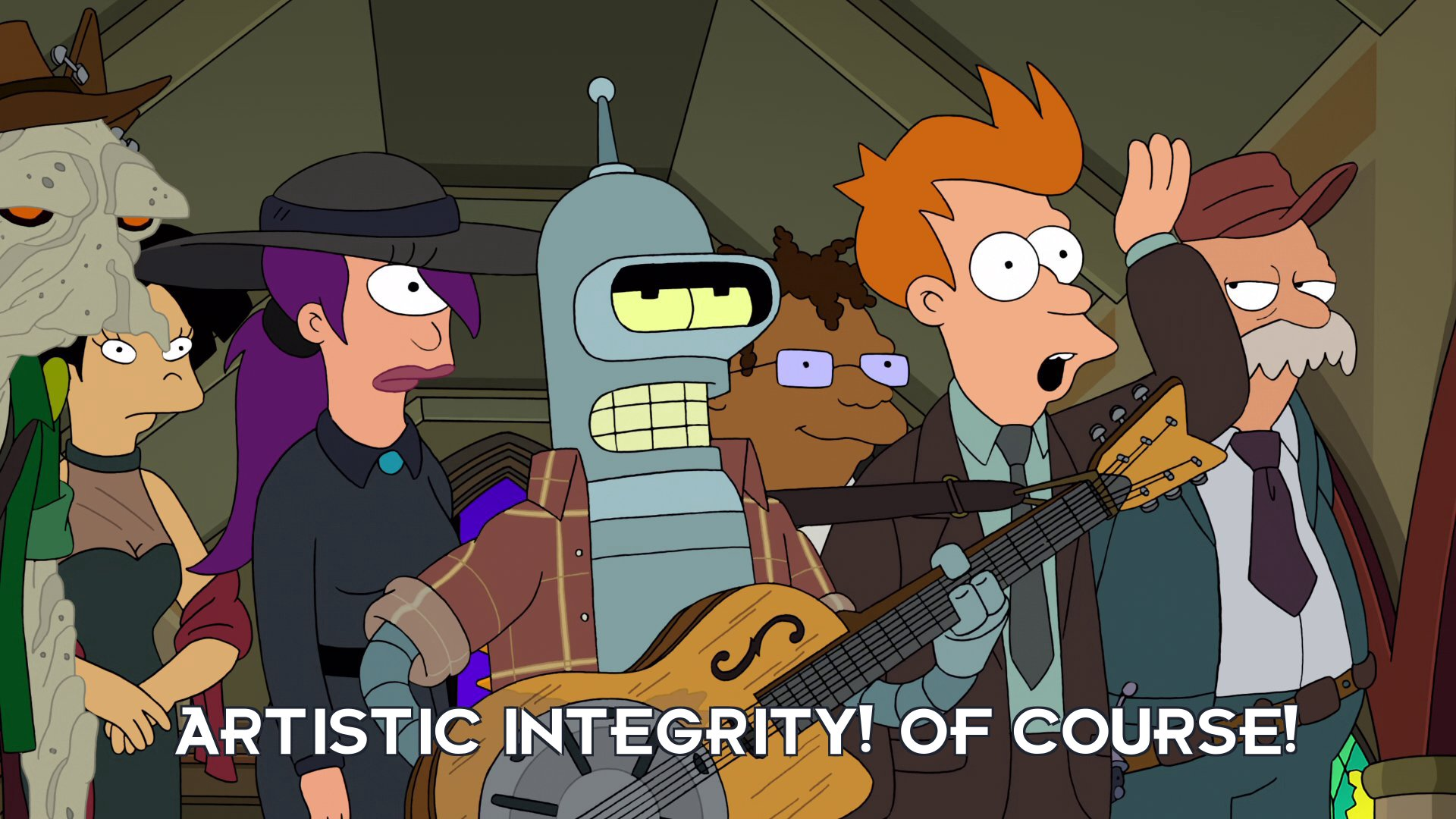 Philip J Fry: Artistic integrity! Of course!