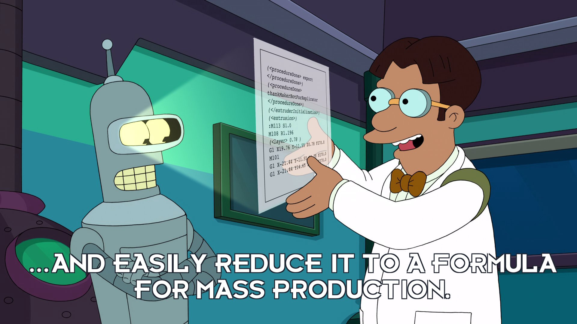 Dr Ben Beeler: ...and easily reduce it to a formula for mass production.