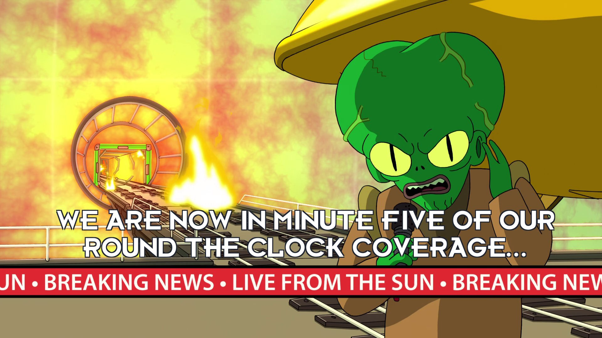 Morbo: We are now in minute five of our round the clock coverage...