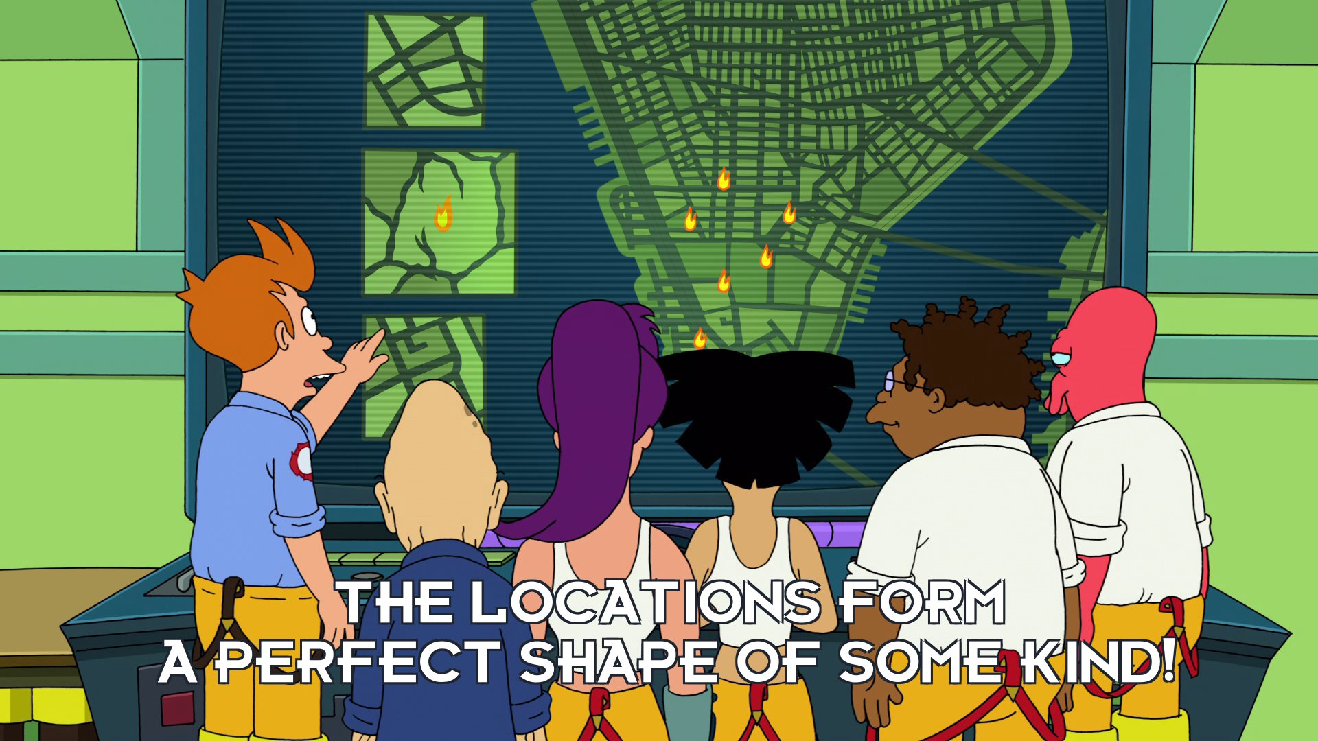 Philip J Fry: The locations form a perfect shape of some kind!