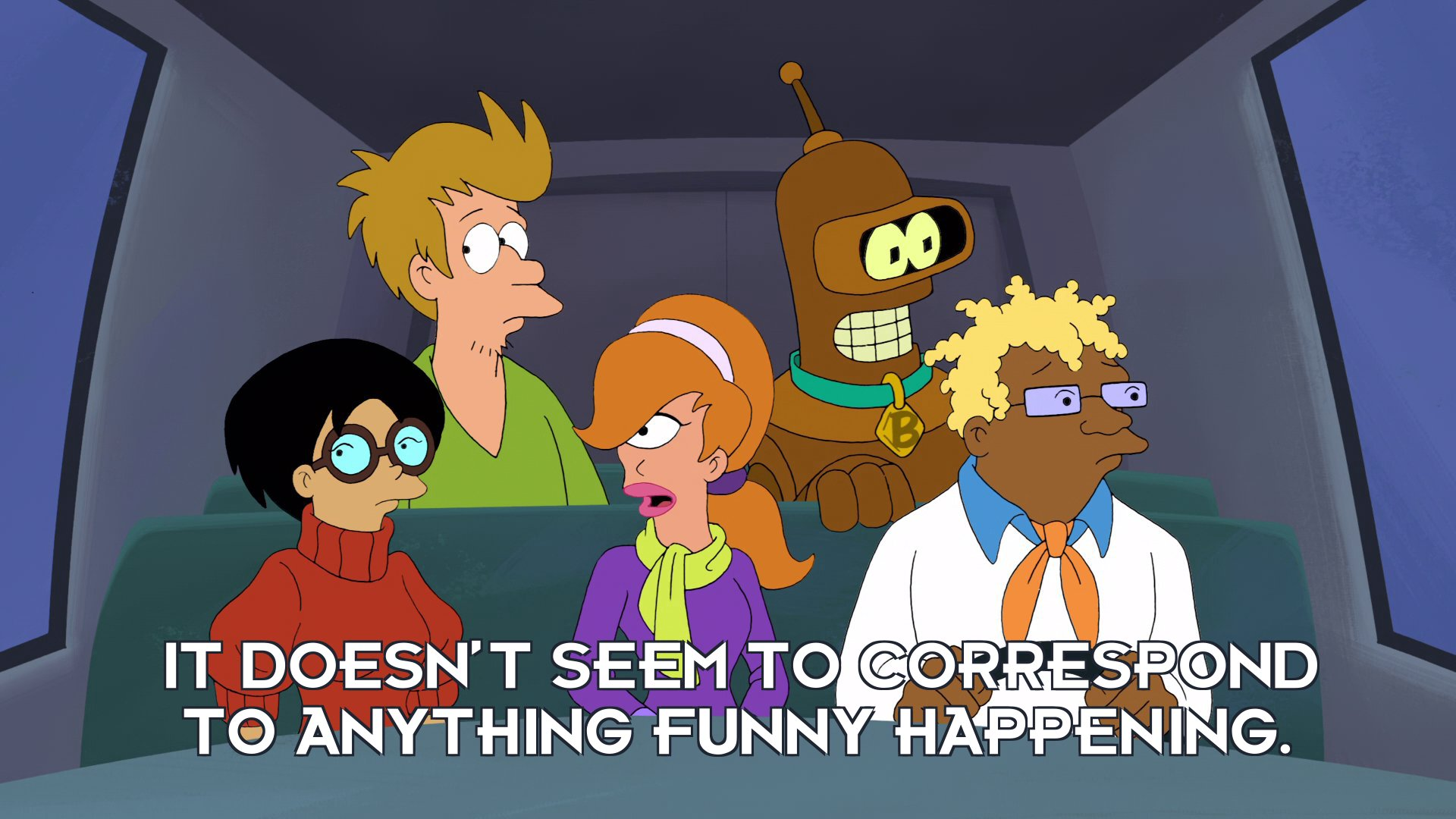 Turanga Daphne: It doesn't seem to correspond to anything funny happening.
