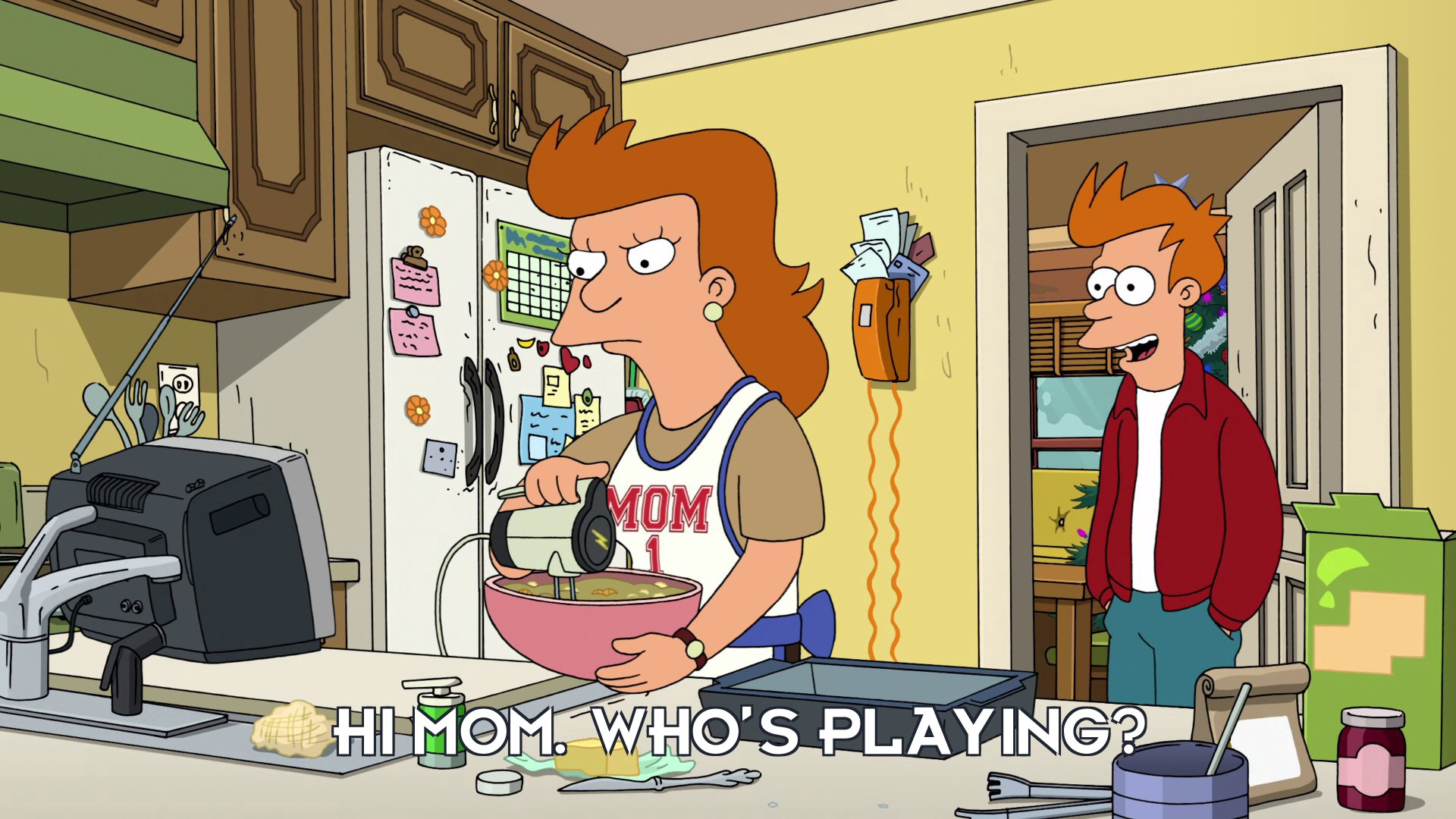 Philip J Fry: Hi Mom. Who's playing?