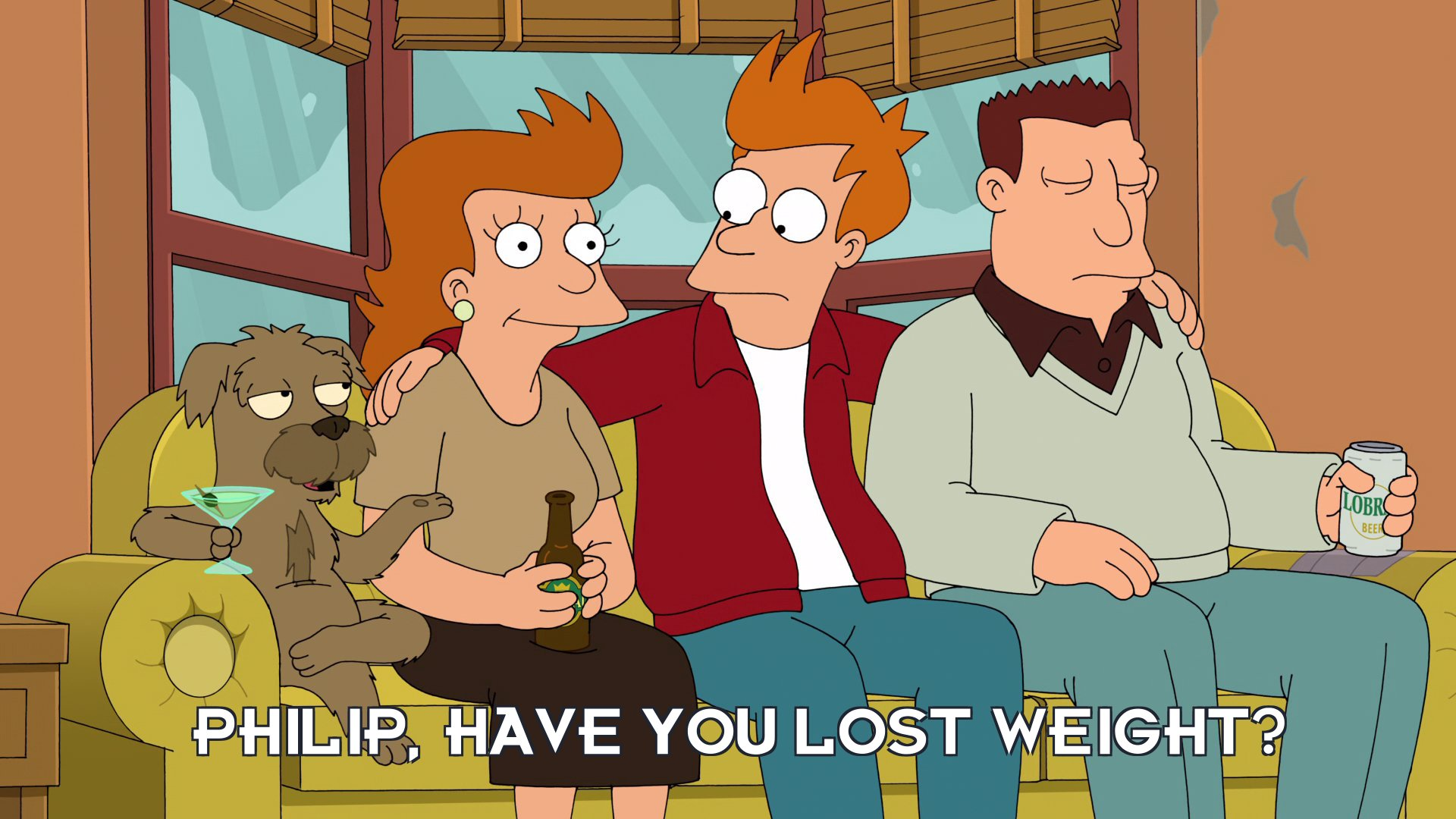 Seymour: Philip, have you lost weight?