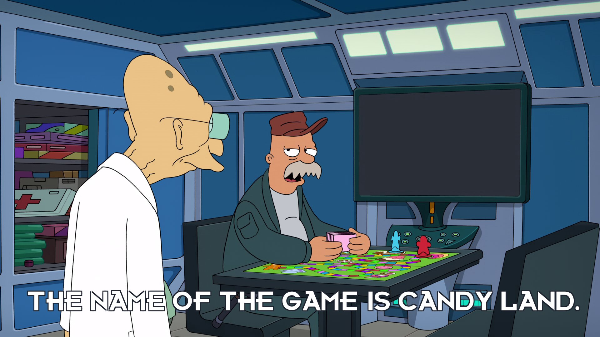 Scruffy: The name of the game is Candy Land.