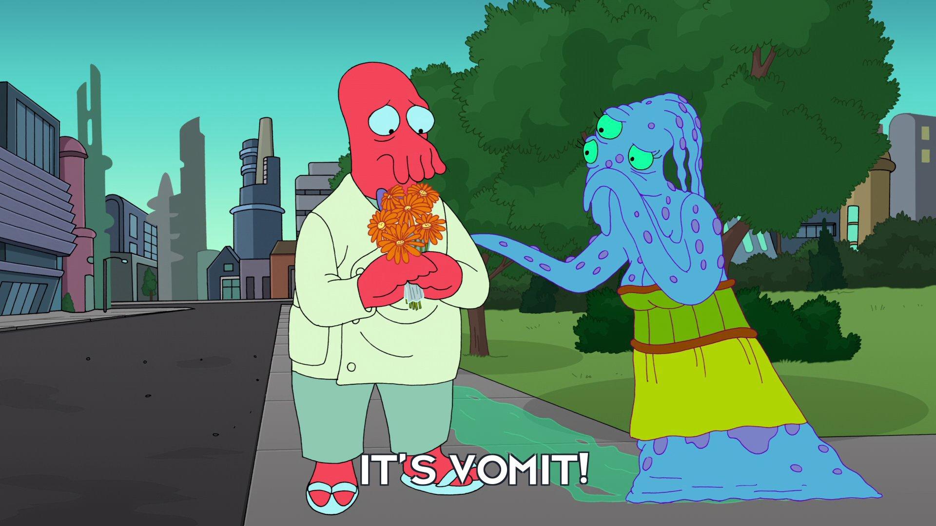 Zindy: It's vomit!