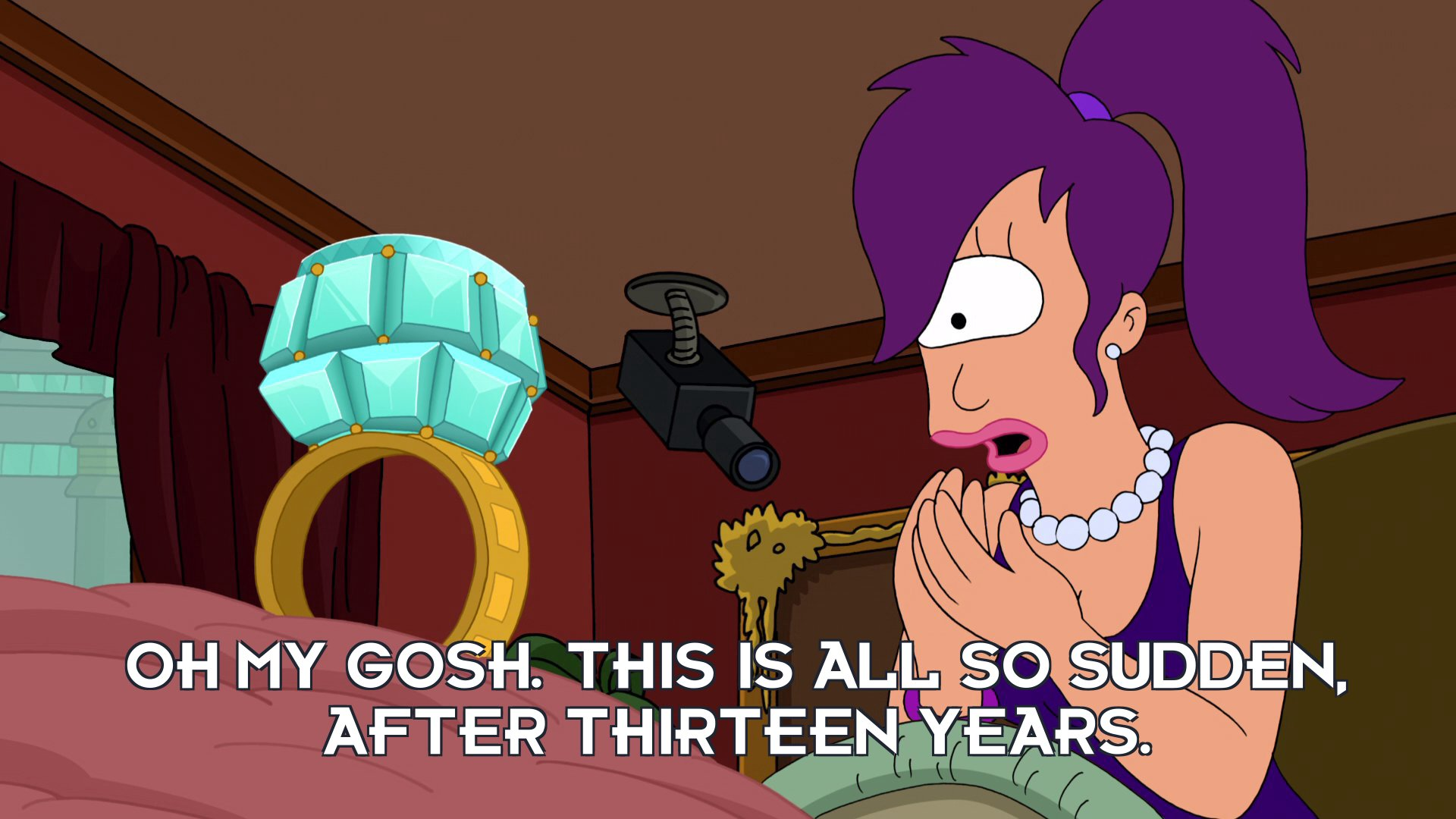 Turanga Leela: Oh my gosh. This is all so sudden, after thirteen years.